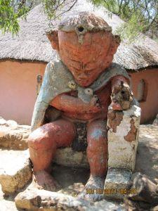 His sculptures still in his village in Soweto
